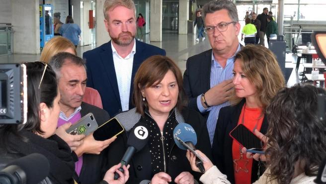 Isabel Bonig en la seua visita a Castelló