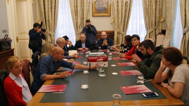 Reunión entre Martiño Noriega y Xosé Sánchez Bugallo