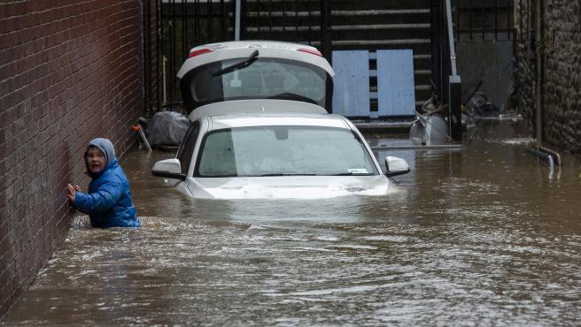 Inundaciones en el Reino Unido por la tormenta Dennis.
