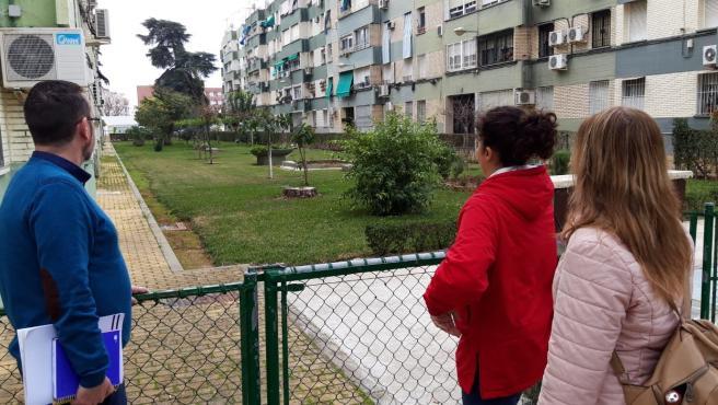 Visita de ediles de Podemos al Parque Figueroa.