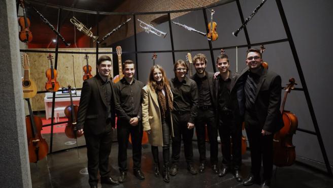 La concejala de Cultura, Andrea Levy, en una visita a la exposición de la biblioteca musical Víctor Espinós, que ahora será permanente.