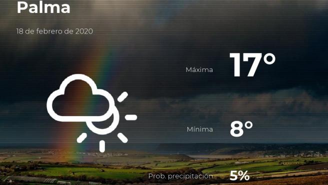 El tiempo en Baleares: previsión para hoy martes 18 de febrero de 2020
