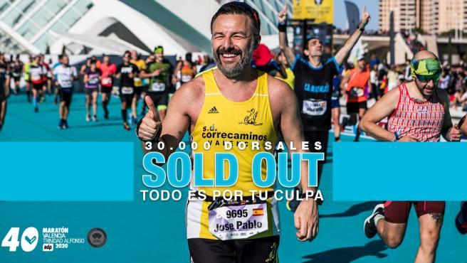La Marató València ven les seues 30.000 dorsals en menys de tres mesos i obrirà una llista d'espera