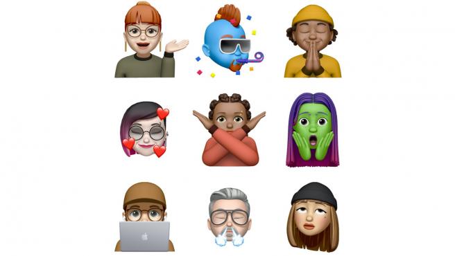 Los nuevos stickers Memoji disponibles en la versión beta de iOS 13.4.