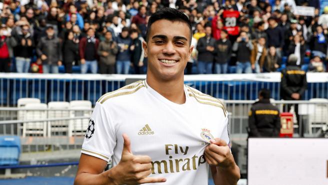 Reinier, en su presentación con el Real Madrid