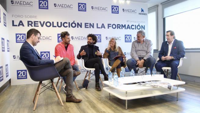De izquierda a derecha: Jesús Morales, Chema Martínez, Francisco Ávila, Rocío Albert, Fernando Romay e Iñaki Cano.