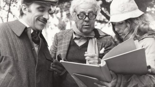 José Sazatornil 'Saza' i Luis García Berlanga i Isabel Mulá.