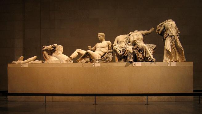 Mármoles de Elgin en el Museo Británico de Londres.