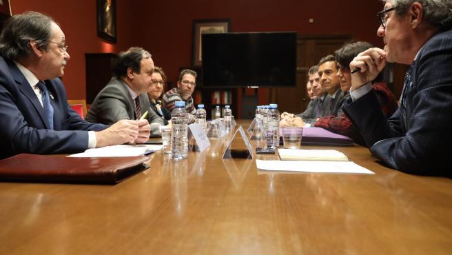 Reunión con representantes de Renfe este miércoles en la Cámara de Comercio.