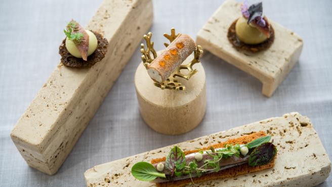 Cuatro tipos diferentes de anchoas elaboradas por el chef cántabro José Manuel de Dios