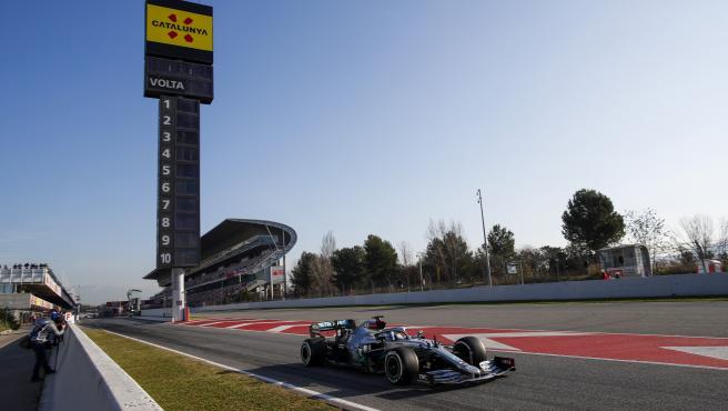 Valtteri Bottas, durante los test de pretemporada de F1.