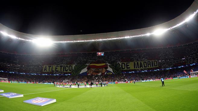 Vista panorámica del Wanda Metropolitano durante el Atlético-Liverpool.
