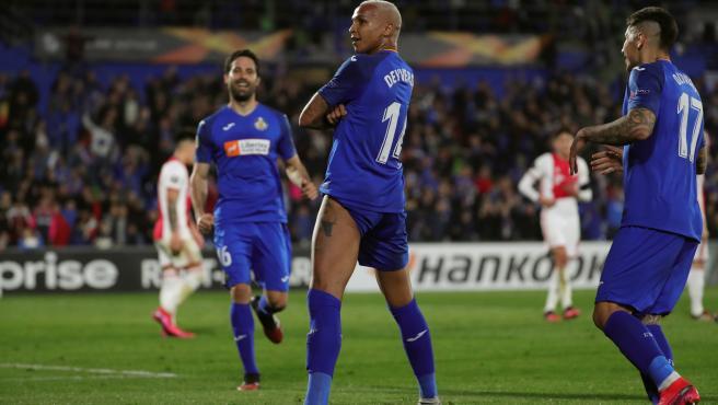Deyverson celebra su gol ante el Ajax.