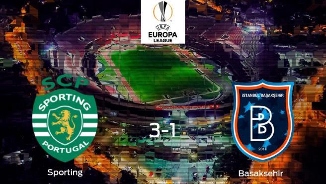 Emoción durante la final de la Europa League: Sporting CP 3-1 Istanbul Basaksehir