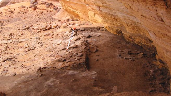 Refugio de la Roca Takarkori en el Sáhara libio.