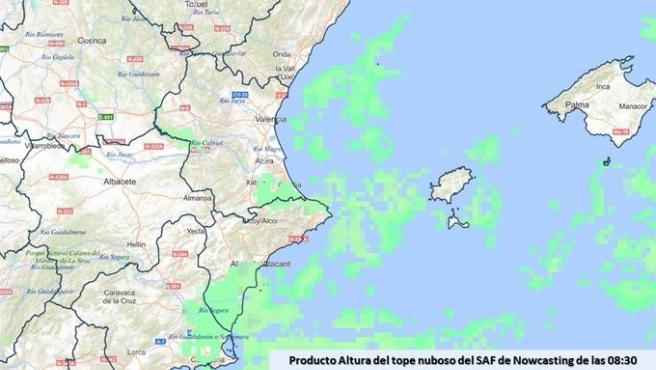 Clareja aquest divendres amb núvols baixos i algun banc de boira en el sud d'Alacant, sud de València i nord d'Alacant i vall del Cabriel.