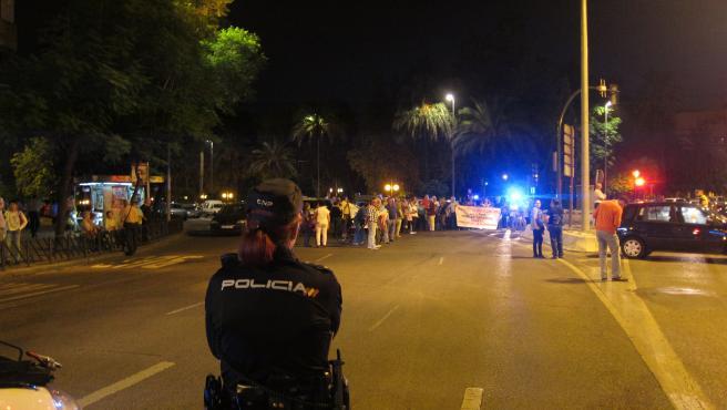 Corte de los parcelistas en avenidas de Córdoba