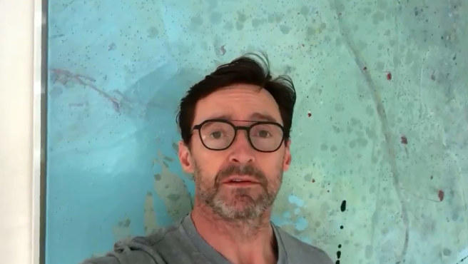 El actor Hugh Jackman en un vídeo de apoyo que ha compartido en las redes sociales.