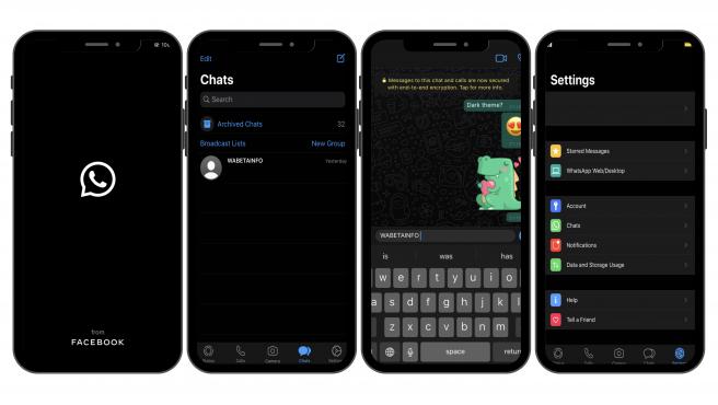 Al abrir un chat, WhatsApp mostrará 'Dark Bubbles' y 'Dark Wallpaper'