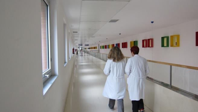 Personal sanitario en el Hospital Universitario Río Hortega de Valladolid.