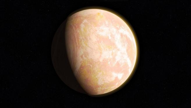 Recreación hecha por la NASA de la Tierra antigua.