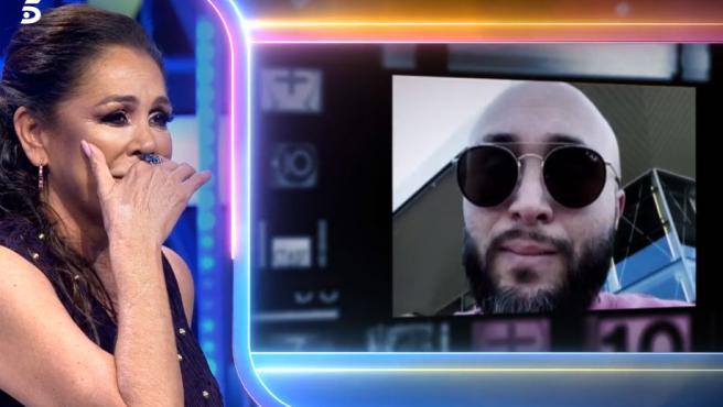 Isabel Pantoja, visiblemente emocionada al ver dos vídeos de sus hijos, Kiko Rivera y Chabelita.