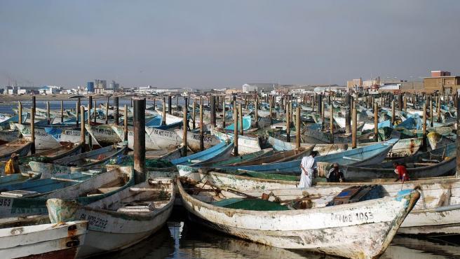 Imagen del puerto pesquero de Nuadibú.
