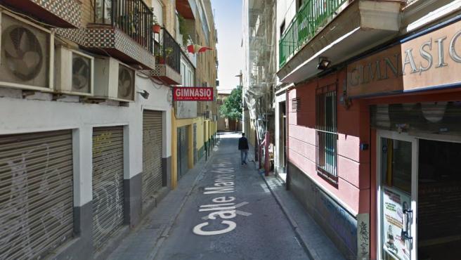 El bebé cayó por la ventana de un bloque ubicado en la calle Mano de Hierro, en la imagen.
