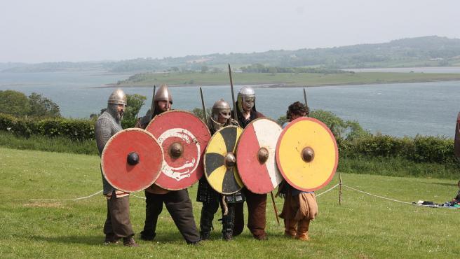 Imagen de una recreación en un festival vikingo.