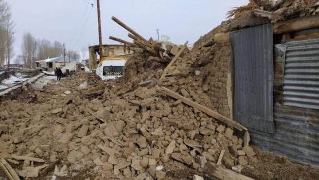 Destrozos causados por el terremoto.