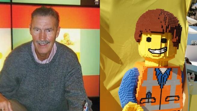 El creador de Lego y una de las figuras.