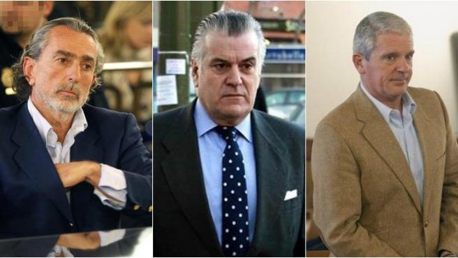 Francisco Correa, Luis Bárcenas y Pablo Crespo, tres de los condenados en la Gürtel.