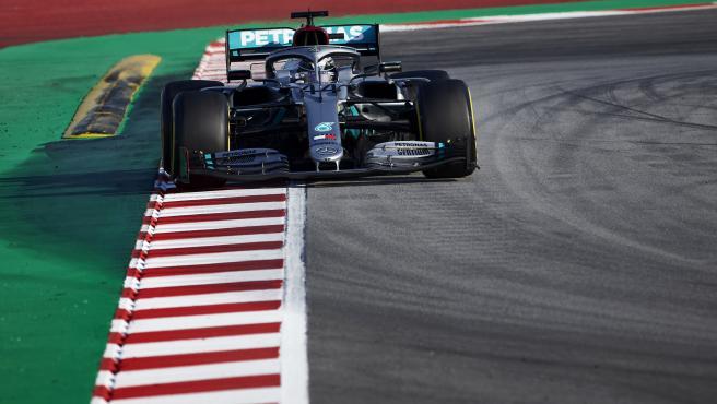 Lewis Hamilton, durante la pretemporada de F1