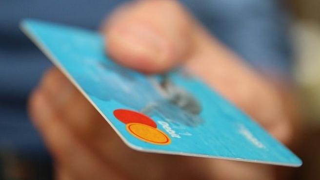 Imagen de archivo de una tarjeta de crédito.