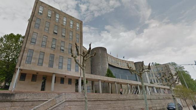 Imagen de la sede de los Juzgados de Santiago de Compostela.