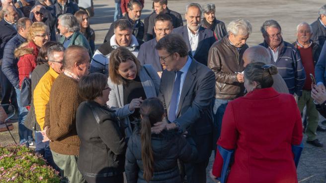 Feijóo participa en un acto de partido en Salvaterra de Miño (Pontevedra)