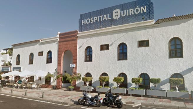 El Hospital Quirónsalud Costa Adeje, en Adeje, Tenerife, en una imagen de archivo.
