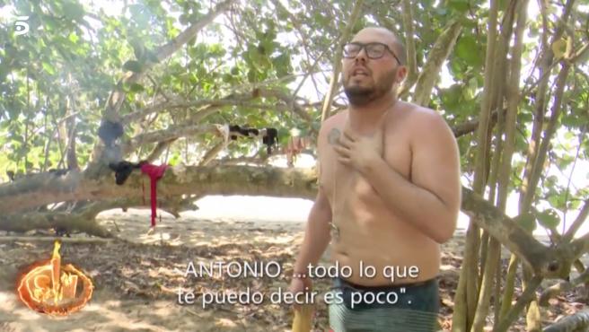 José Antonio Avilés discute con Antonio Pavón en 'Supervivientes 2020'.
