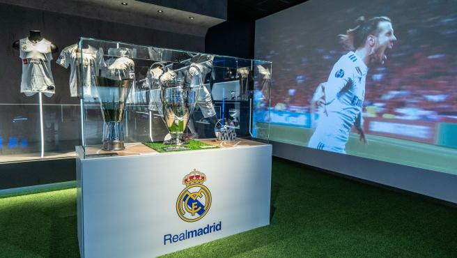 Trofeos del Real Madrid en el Museo de Rafa Nadal.