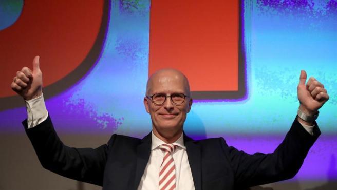 El alcalde-gobernador de Hamburgo (Alemania), el socialdemócrata Peter Tschentscher, tras su victoria en las elecciones regionales.