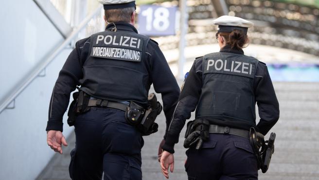 Dos policías alemanes, en una imagen de archivo.