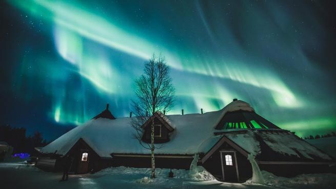 Auroras boreales en Arctic SnowHotel.