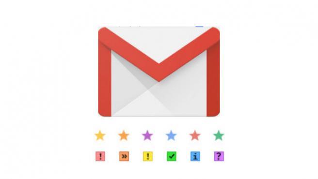 Las estrellas e iconos disponibles en Gmail para destacar correos