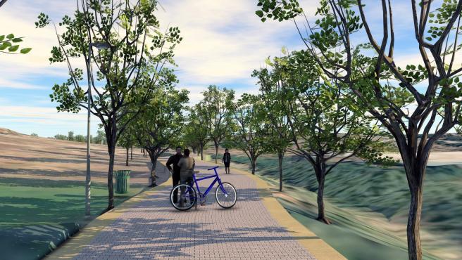 Imagen del corredor fluvial previsto por el Ayuntamiento de Estepona