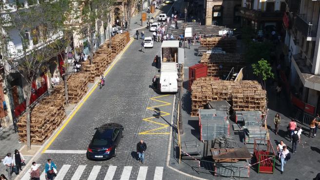 Sillas de la Carrera Oficial de Sevilla, en la Campana.