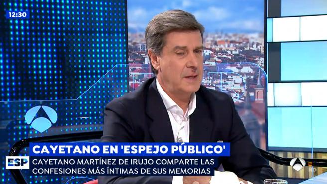 Cayetano Martínez de Irujo, en programa de 'Espejo Público'.