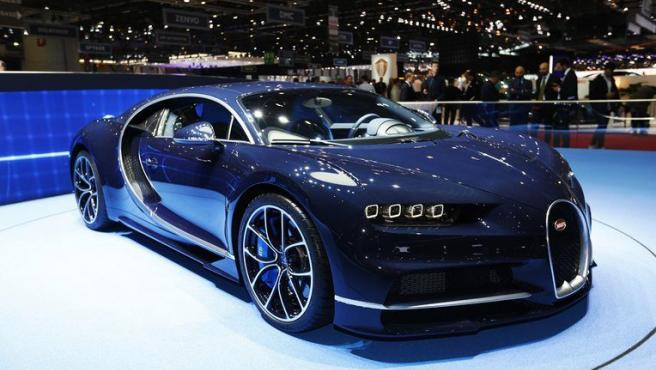 Bugatti en el Salón de Ginebra.