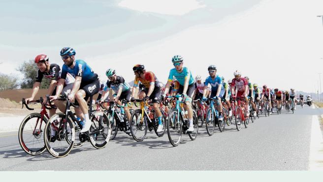 Pelotón de ciclistas