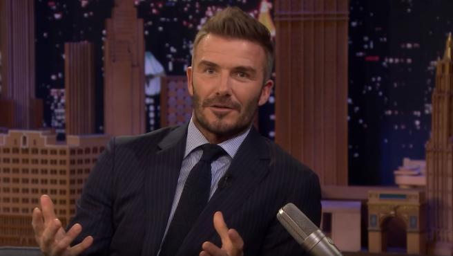 David Beckham, durante una entrevista con Jimmy Fallon