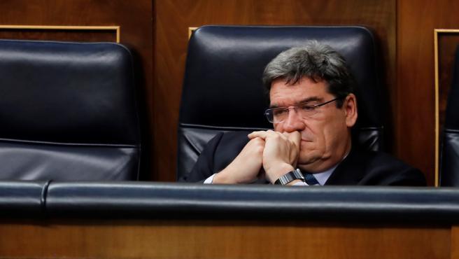 El ministro de Seguridad Social, José Luis Escrivá, en el Congreso.